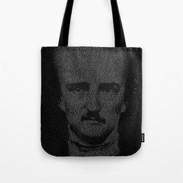 Mr. Poe Typographic Portrait Tote Bag