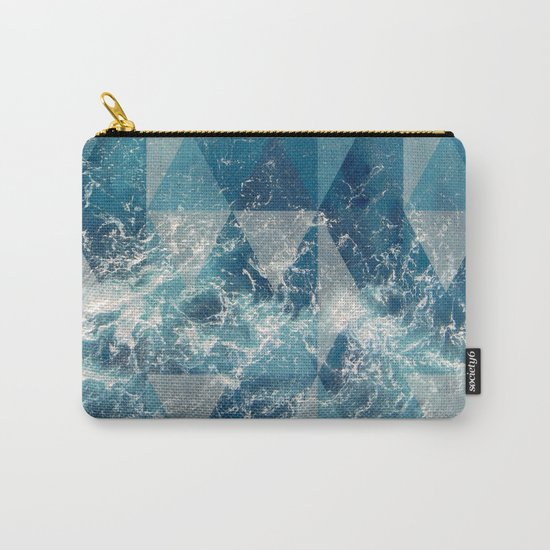 Geometric sea Carry-All Pouch