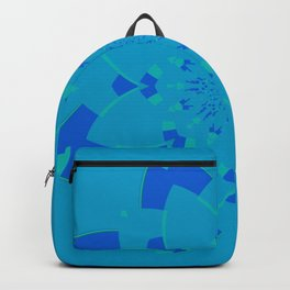 Blue Flower Kaleidoscope Backpack