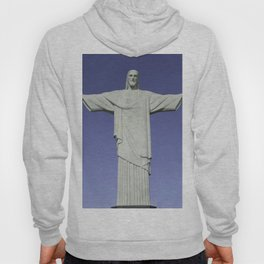 Detailed closeup of the Christ the Redeemer statue in Brazil Hoody