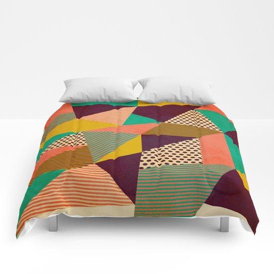 Geometric Love II Comforters