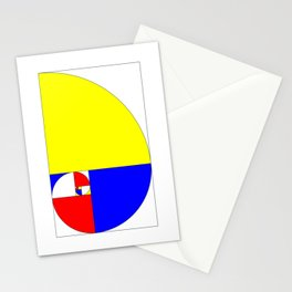 Mondrian in a Fibo-Style Stationery Cards