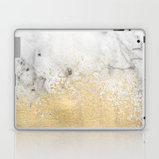 Gold Dust on Marble Laptop & iPad Skin