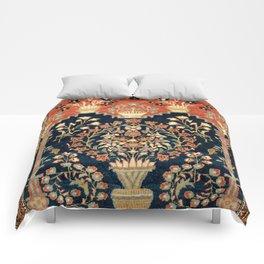 Kashan Poshti  Antique Central Persian Rug Print Comforters