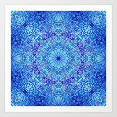 Mehndi Ethnic Style G454 Art Print