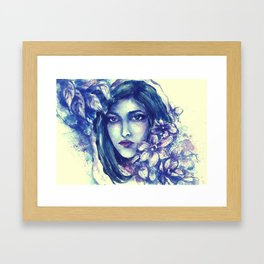 she hides in flowers until he find her............ Framed Art Print