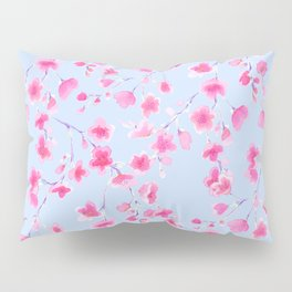 Cherry Blossoms Periwinkle (For Mackenzie) Pillow Sham