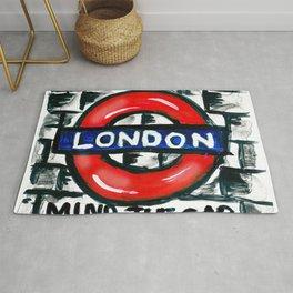 london underground / metro /subway Rug