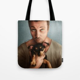 Dan Feuerriegel & Teddy the Puppy Tote Bag