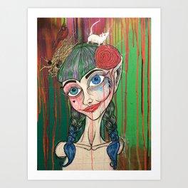 I should live in salt for leaving you (New Orleans Harley Quinn) Art Print