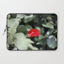 Red Left in the Blues Laptop Sleeve