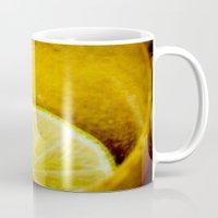 lemon Mugs featuring Lemon by Ginta Spate
