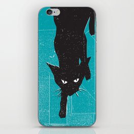 Black Kat iPhone Skin