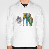 boho Hoodies featuring BOHO ELEPHANT by Nizhoni Creative Studio