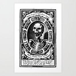 Death is the Last Line Art Print