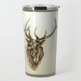 Elk Portrait - In the Roar Travel Mug