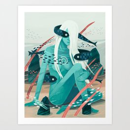 Heavy water Art Print