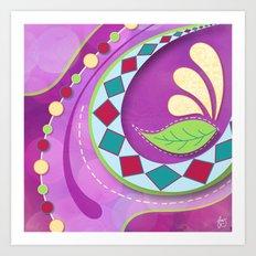 Purple Tango Art Print