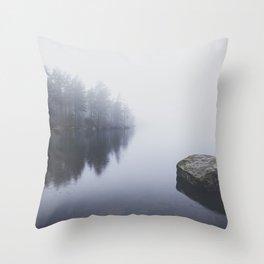 Morning blues Throw Pillow