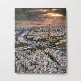 Paris from the air Metal Print