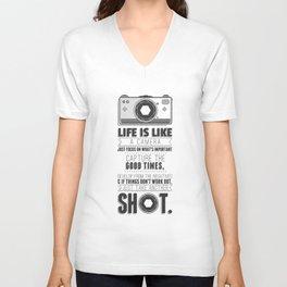 Vintage Camera Quote Unisex V-Neck