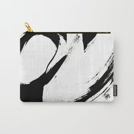 Brushstroke 6: a minimal, abstract, black and white piece Carry-All Pouch