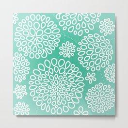 Peppermint Dandelions Metal Print