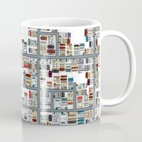the neighbourhood Mugs featuring Neighbourhood pattern by Rceeh