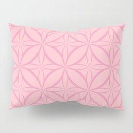 Pink Geometric Pattern Pillow Sham