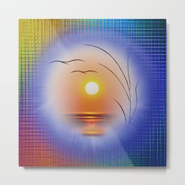 Abstract in perfection - Fertile Imagination Sunst Metal Print
