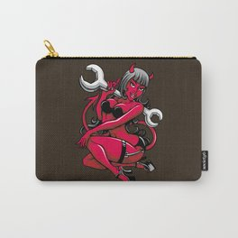 Devil Pin-Up Girl with Big Wrench Carry-All Pouch
