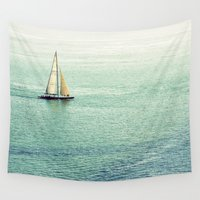sailing Wall Tapestries featuring Sailing by Lawson Images