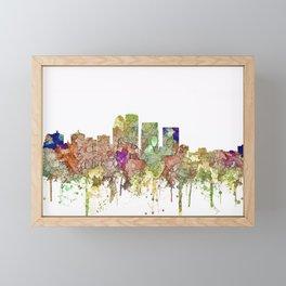 Louisville, Kentucky Skyline - Faded Glory Framed Mini Art Print