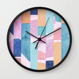 Colourful Watercolour Painting Wall Clock