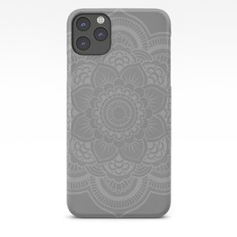 Gray Mandala iPhone Case