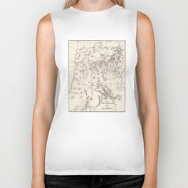 Vintage Map of The White Mountains (1872) Biker Tank