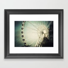 The Wheel Goes Round and Round Framed Art Print
