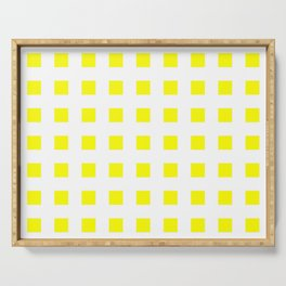 square and tartan 50- yellow Serving Tray
