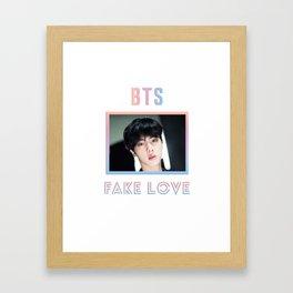 BTS Fake Love Design - Jin Framed Art Print