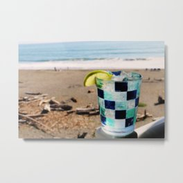 Drinks on the Beach Metal Print