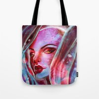 jenny liz rome Tote Bags featuring Liz by cgkaitlin
