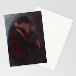 Edvard Munch The Kiss Stationery Cards