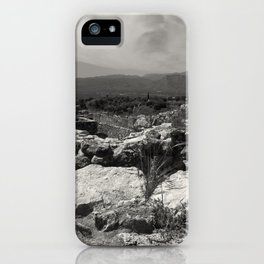Black and white I landscape iPhone Case