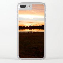 Pink Sunrise Clear iPhone Case
