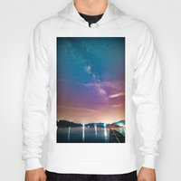 milky way Hoodies featuring Milky Way Over Water by 2sweet4words Designs