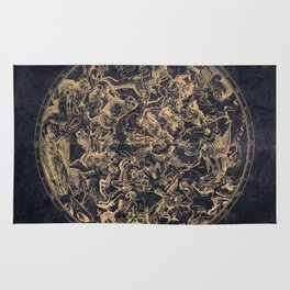 Vintage Constellations & Astrological Signs | Yellowed Ink & Cosmic Colour Rug