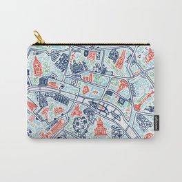 Paris city map illustration Carry-All Pouch