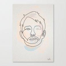 One Line Thom Yorke Canvas Print