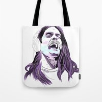 snl Tote Bags featuring Bill Hader by deathtowitches