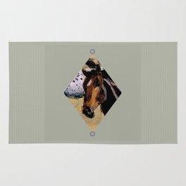 Galloping Horse Close-Up Rug